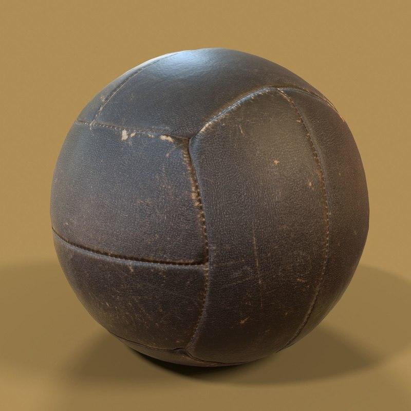 leather ball basketball exercise 3D model