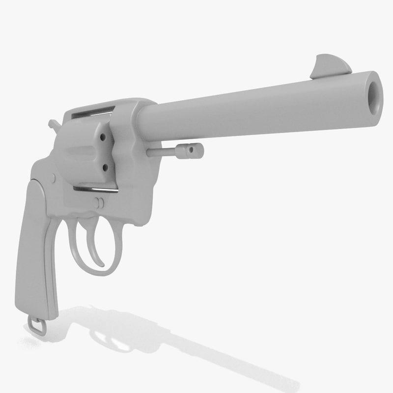 gun antique 3D model
