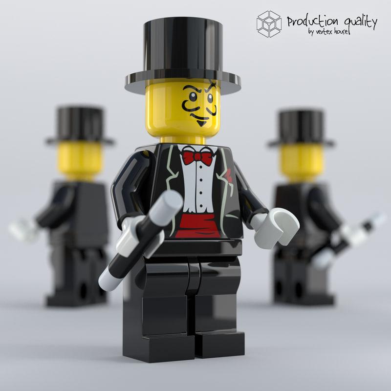 3D model lego magician figure