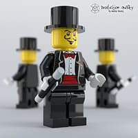 3D model lego magician figure