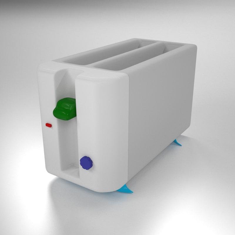 modern toaster 3D model