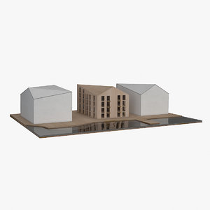 architecture physical balsa modeled 3D model