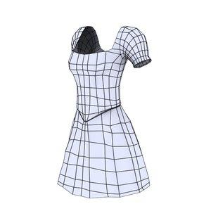 female dress 3D