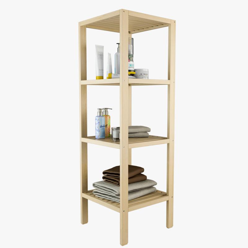 shelves bathroom cabinet 3D model