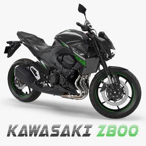 3D kawasaki z800 2016 green