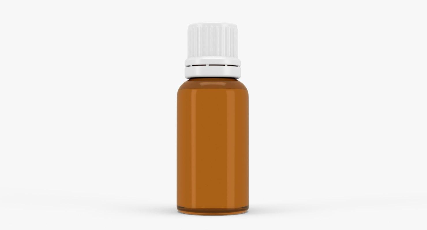 amber glass bottle cm 3D