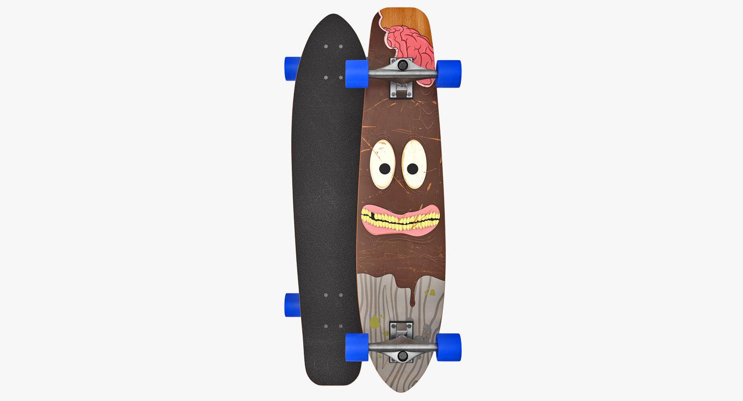 longboard board 3D