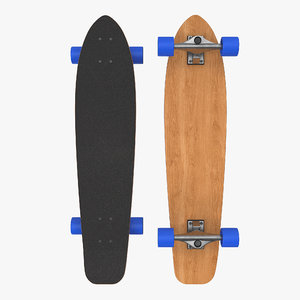 3D model longboard generic
