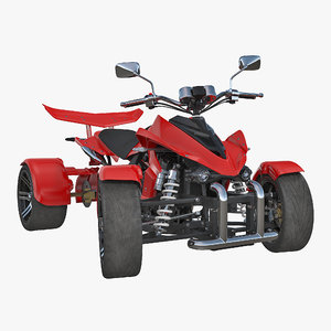 3D model quad bike spy racing