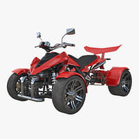 quad bike spy racing 3D model