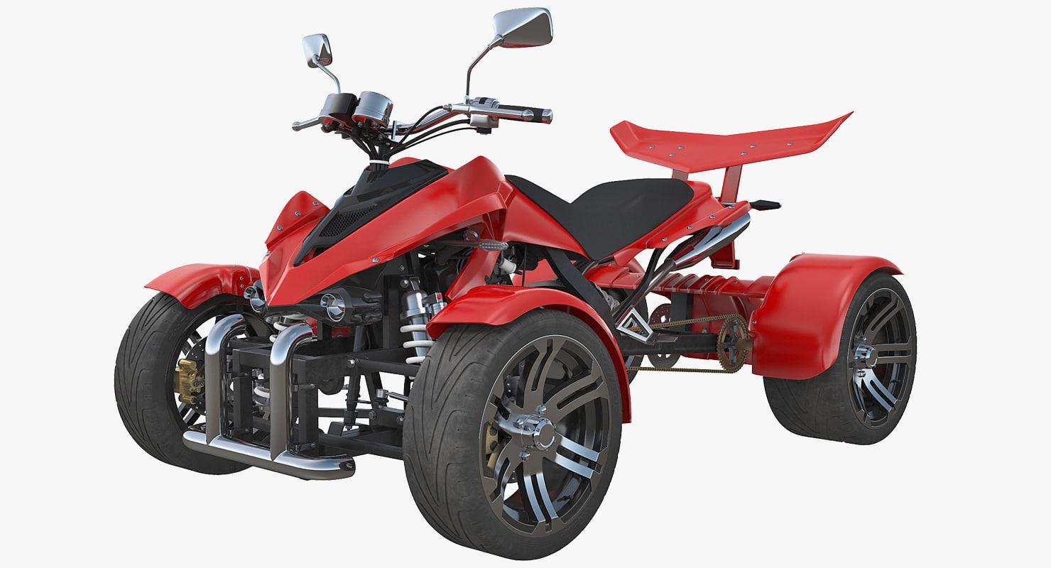 quad bike spy racing 3D model