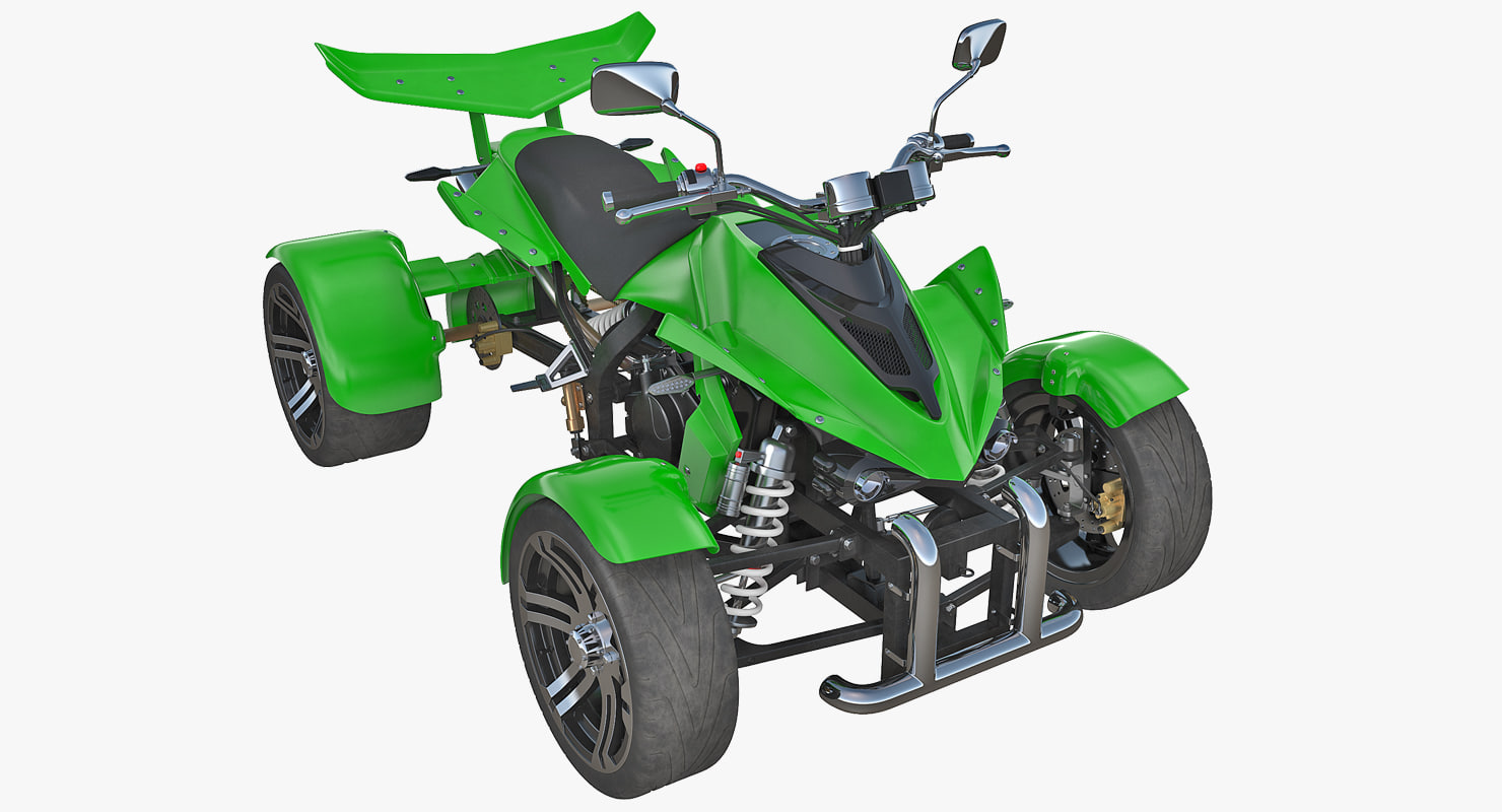 3D quad bike spy racing