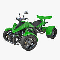 Quad Bike Spy Racing 350CC Buggy ATV Green Rigged 3D Model