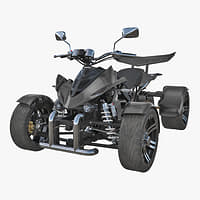 3D model racing quad bike generic