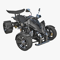 3D racing quad bike generic