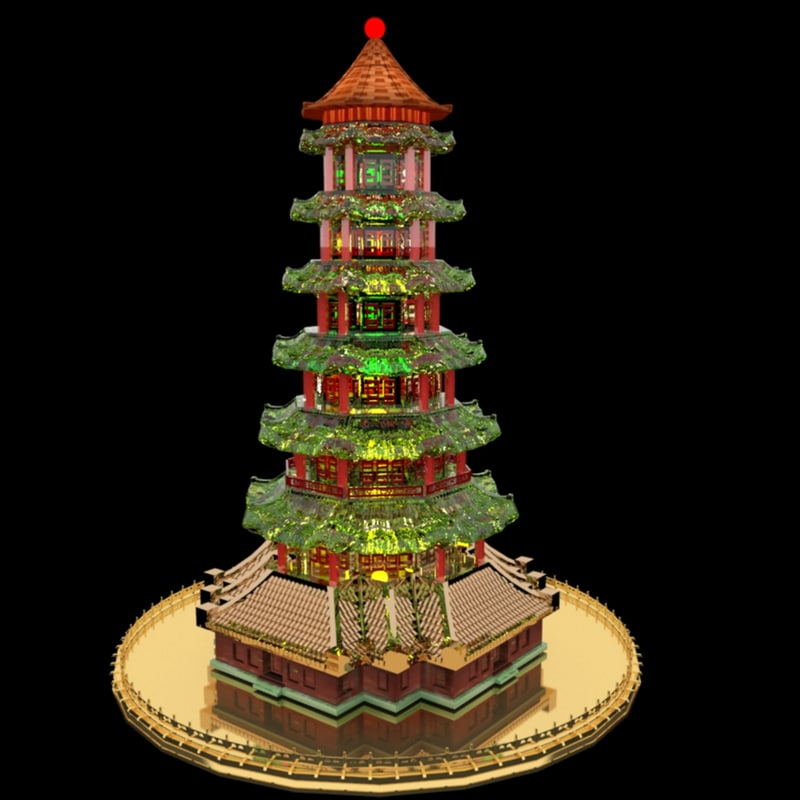 3D chinese tower