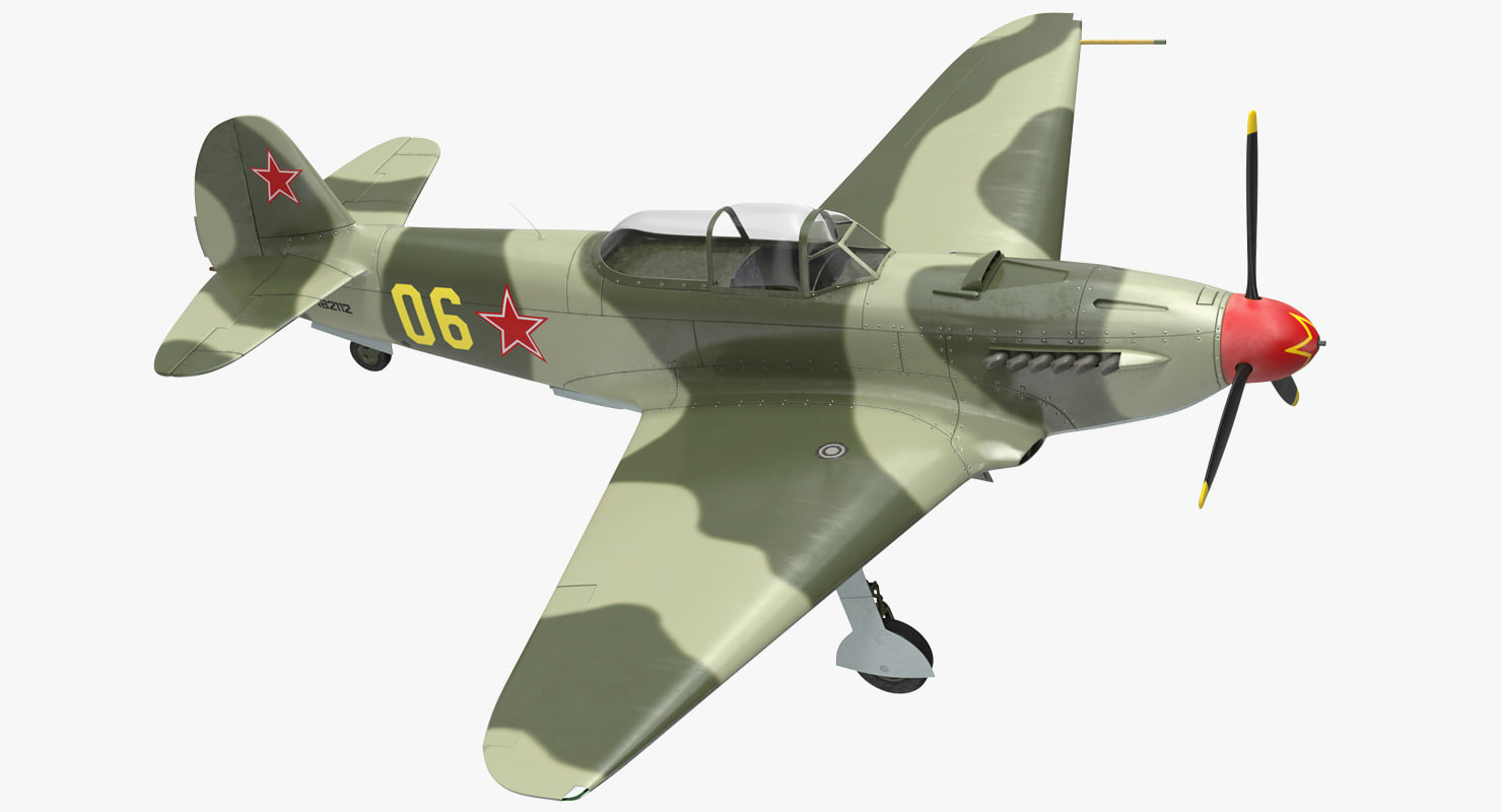 3D soviet wwii fighter aircraft
