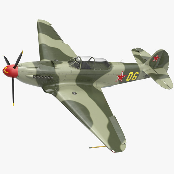 soviet wwii fighter aircraft 3D model
