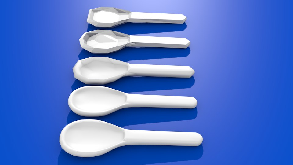 3D spoon dishes model