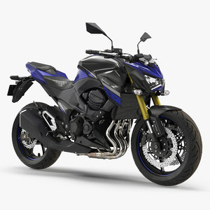 3D standard motorcycle kawasaki z800