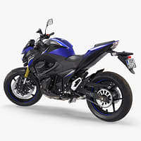 Standard Motorcycle Kawasaki Z800 2016 Rigged 3D Model