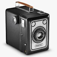 3D vintage imperial camera model
