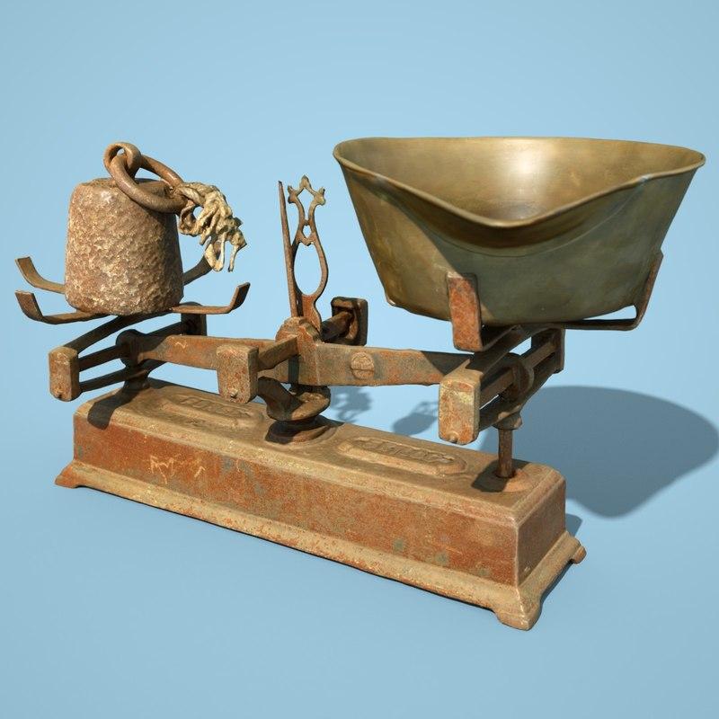 3D model balans industrial scale
