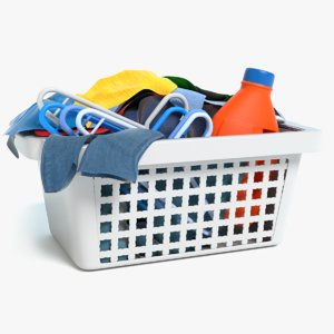 basket clothes 3D model