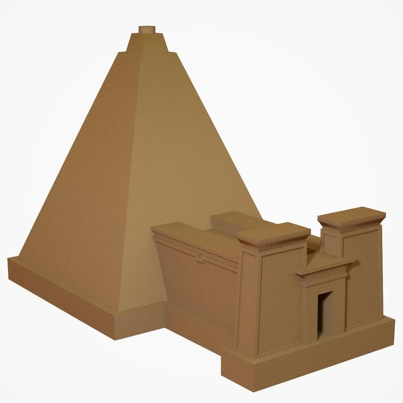 3D meroe pyramid
