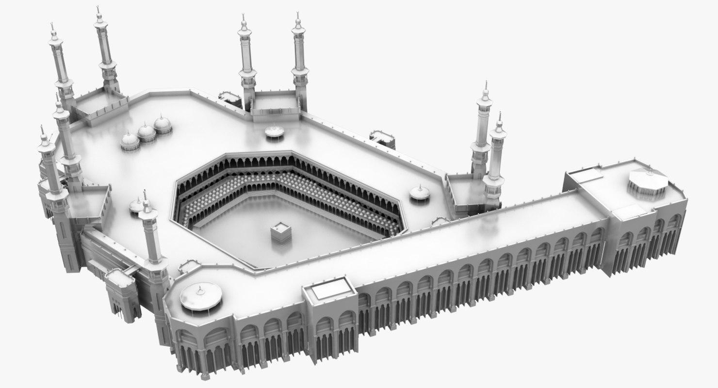 masjid al haram 3D model