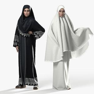 muslim woman 3D model