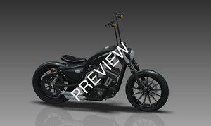 3D model iron 883