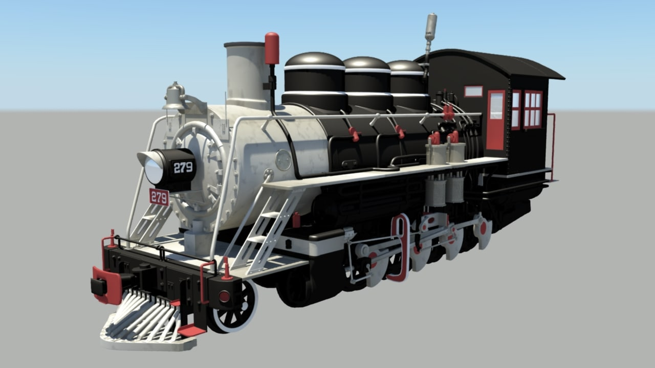 locomotive 279 3D model