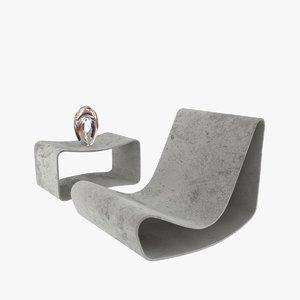 willy guhl loop chair garden 3D model