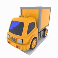 cartoon truck toon 3D