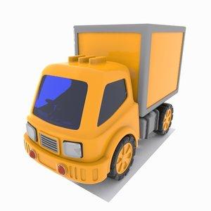 cartoon truck toon 3D
