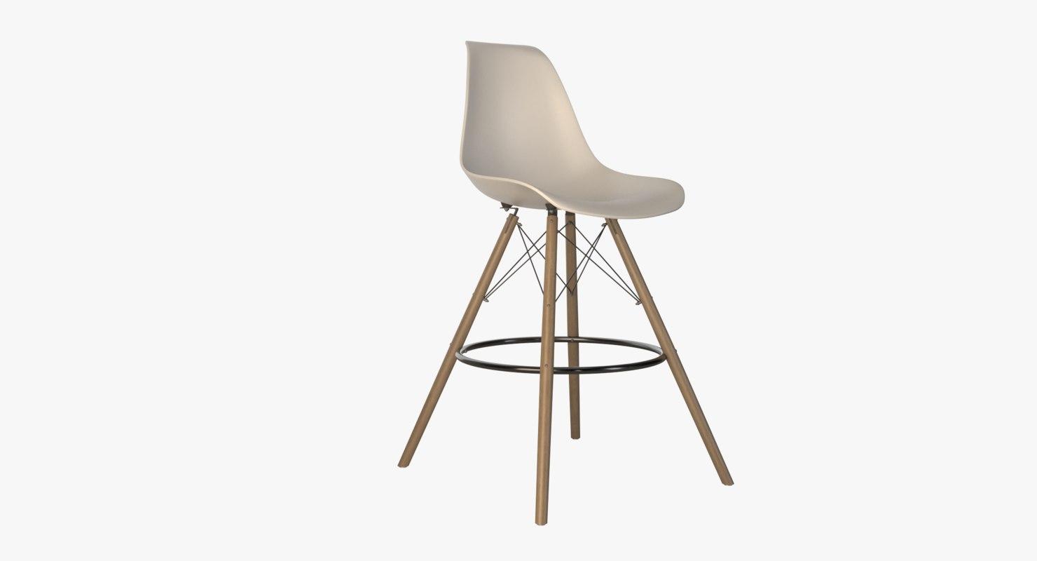 3D realistic bar chair model