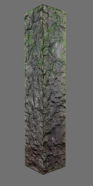 mossy stone pillar model