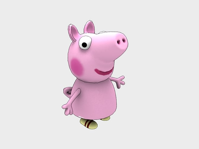 3D cartoon character piggy