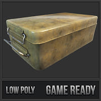 3D rusty supply box