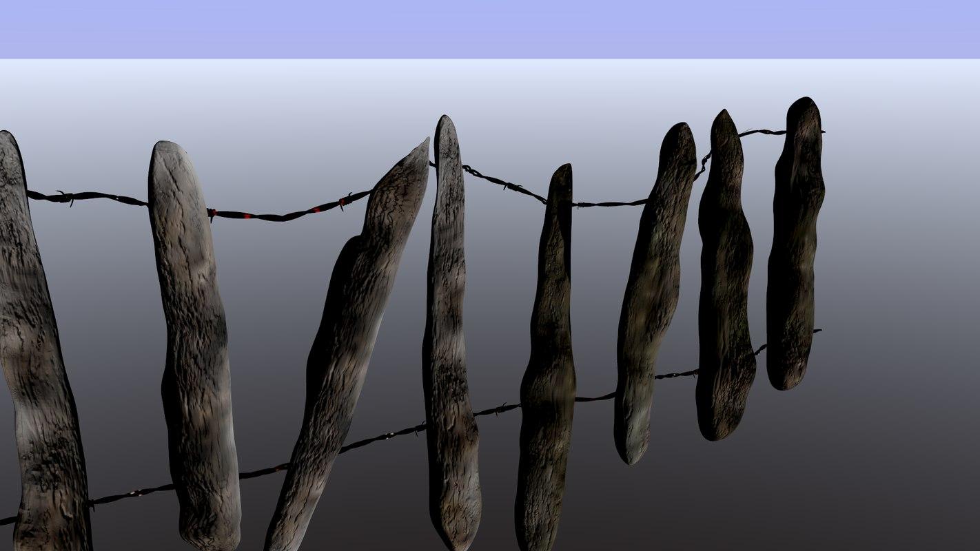 creepy fence en tileable 3D model