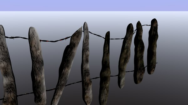 creepy fence en tileable 3D model