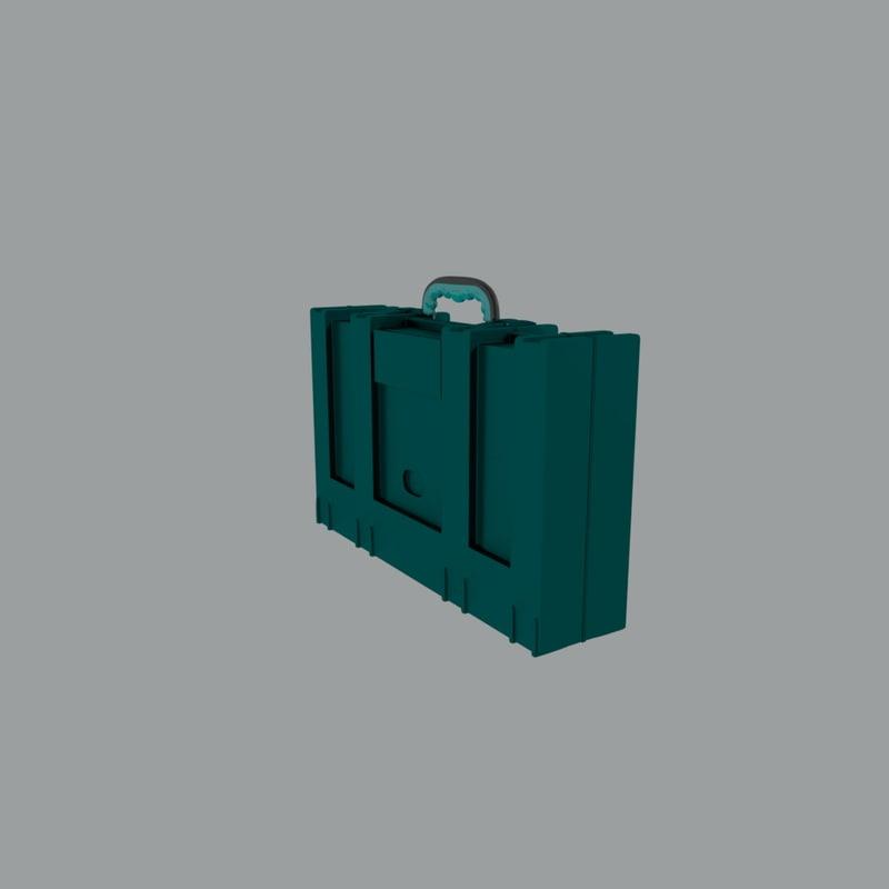 3D model futuristic suitcase hd