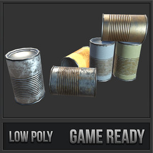 3D rusty old food cans