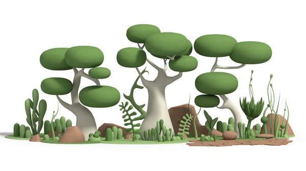 toon nature 3D model