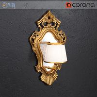 3D silik wall lamp model