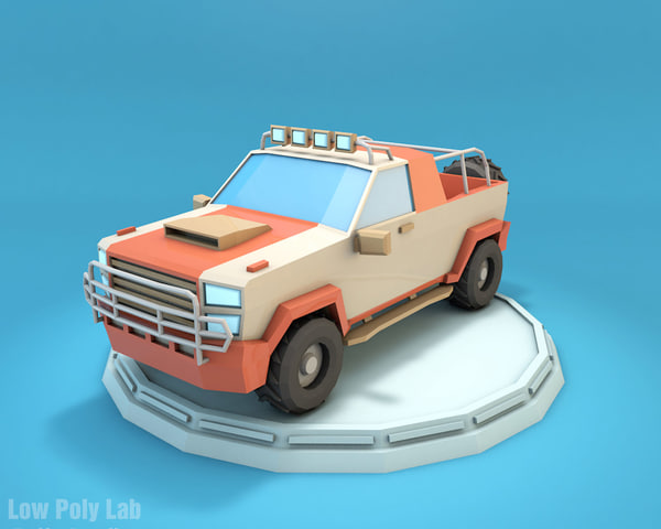 jeep cartoon suv 3D model