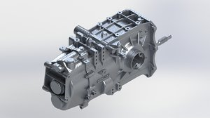 hewland ld200 racing gearbox 3D model
