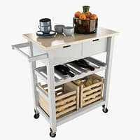 3D storage kitchen trolley