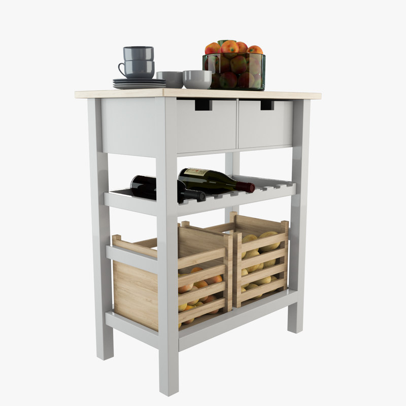 3D storage kitchen trolley model